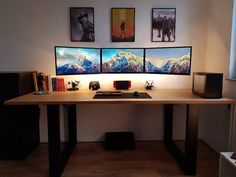 Post with 1803 views. Cool Office Space, Home Office Setup, Home Office Design, House Design, Man Office Decor, Office Ideas, Men Office, Gaming Room Setup, Desk Setup