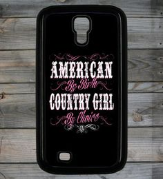 Country Girl ® American By Birth Galaxy S4 Phone Case/Cover
