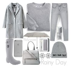 """""""gray day in nyc"""" by j-n-a ❤ liked on Polyvore featuring Blair, MANGO, Kamik, Local Heroes, Christian Dior, Clinique, M&Co, Native Union and Givenchy"""