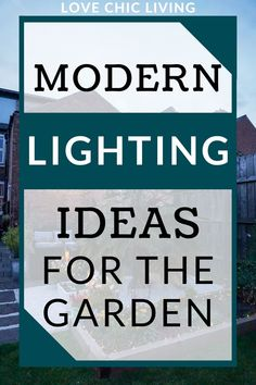 Give your garden a summer makeover with some new contemporary lighting! These modern lighting ideas can breath new life into your outside space | Garden makeover ideas | Stylish garden lighting | solar garden lights Fence Lighting, Lighting Ideas, Modern Lighting, Contemporary Garden Rooms, Outdoor Tables And Chairs, Lantern Set, Garden Makeover, Canopy Lights