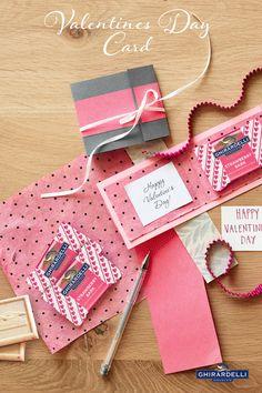 DIY Card with Ghirardelli Strawberry Bark