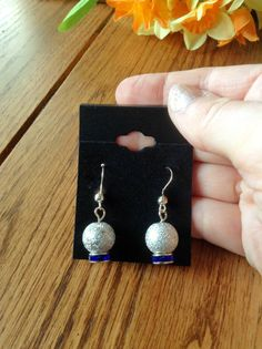 Silver Christmas Earrings Holiday Jewelry by JellyTreeJewelry