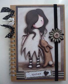 Gorjuss Girls Notebook Book Journal, Journal Ideas, Journals, Album Book, Office And School Supplies, Mini Albums, Scrapbooking, Diy, Notes