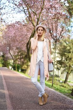 Discover this look wearing Nude Sheinside Vests - Spring released by skinnybuddha styled for Casual, Shopping Date in the Spring Pink Cardigan, Duster Coat, Vest, Nude, Skinny, Spring, Rose Quartz, Casual, Buddha