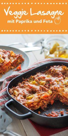 Ein italienischer Klassiker in vegetarischer Form. Die Veggie Lasagne mit Paprika und Feta kommt ganz ohne Fleisch aus und schmeckt trotzdem himmlisch. Perfekt für alle Italien-Fans und Pasta-Liebhaber. Unbedingt probieren!