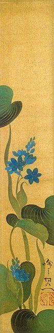 鈴木其一 Suzuki Kiitsu - Hanging Scroll - Rinpa School 琳派