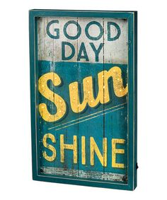 Look what I found on #zulily! 'Good Day Sunshine LED Box Sign #zulilyfinds