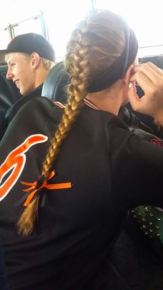 Absolutely perfect volleyball hair