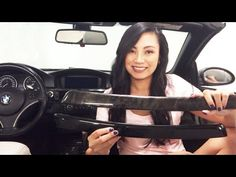 How to Wrap Car Interior Trim - Gloss Black Vinyl - BMW 335 E92/ E93 - YouTube