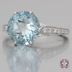 Edwardian Aquamarine Engagement Ring