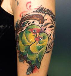 Inseparabili Birds tattoo Biancaneve tattooer Milano