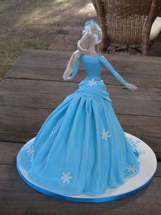Elsa Dolly Varden, walking doll cake - white chocolate mud cake - Sept 2015 Frozen Birthday Cake, Frozen Cake, Cake Icing, Cupcake Cakes, Barbie Princess, Princess Cakes, Dolly Varden Cake, Elsa Doll Cake, White Chocolate Mud Cake