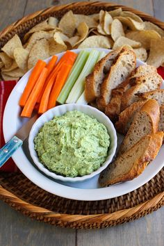 Avocado Feta Dip - A creamy, salty, lemony dip. Perfect for a summer afternoon picnic or barbecue.