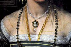 Detail Portrait of a Lady by Peter de Kempeneer, c. 1530
