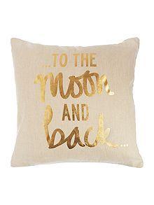 Gold print cushion