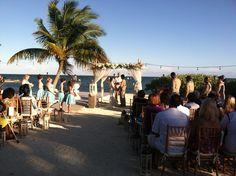 Beach-Wedding-bride-and-groom-exchanging-vows   #weddingdj #mikebdjmc #mbeventdjs #h20houseweddingdj #islamoradaweddingdj #