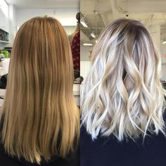 """3,402 Likes, 133 Comments - Blonde and Balayage Specialist (@colorbyashley) on Instagram: """"Before and After! ✨ #ColorByAshley haircut by @jenniehairartist"""""""