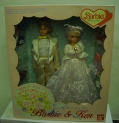 1043 Nib Rare Ban Dai An Barbie Ken Wedding Set