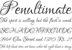 Lovers Quarrel Font Phrases