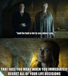 Game of Thrones funny meme | oh I felt soooooo bad. Oh boohoo, Cersei. Boohoo, ya bitch! Ha! In your stupid face!