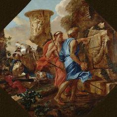 Arcadian Shepherds by Giovanni Benedetto Castiglione Architecture Art Print