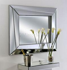 Mosman Handmade Modern Angled Bevelled Wall Mirror - All Mirrors - Mirrors