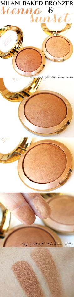 Milani Cosmetics Matte Baked Bronzer in Sienna and Sunset - My Newest Addiction Beauty Blog www.mynewestaddiction.com