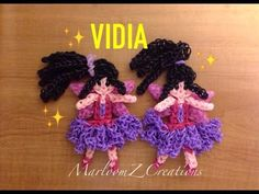 Rainbow Loom Vidia Disney Fairy: Tinker Bell tutorial by MarloomZ Creations.