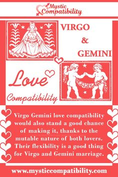 Virgo Gemini love compatibility would also stand a good chance of making it, thanks to the mutable nature of both lovers. #Virgo #Gemini #love #compatibility #Virgo_Gemini #love_compatibility #Zodiac_Signs Gemini Love Compatibility, Gemini And Virgo, Gemini Relationship, Relationship Compatibility, Zodiac Signs, Flexibility, Marriage, Thankful, Lovers