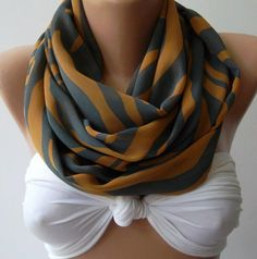 Infinity Scarf Loop Scarf Circle Scarf  Elegant  It made by womann, $18.00