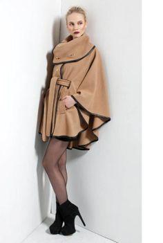 "Rachel Zoe: Poncho inspired ""Camel Coat"""