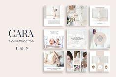 Cara Social Media Pack by SlideStation on @creativemarket