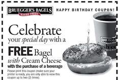 brueggers bagels birthday freebie coupon