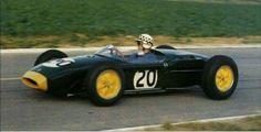 1960 French GP, Reims : Innes Ireland, Lotus-Climax 18 #20, Team Lotus, Qual. (ph: caranddriver.com)