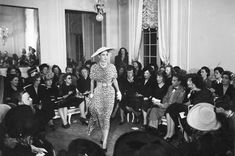 The first Dior fashion show Corolle, 1947