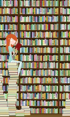 """When in doubt, go to the library  by James E. Hopkins. """"Cuando tienes una duda, acude a la biblioteca"""""""