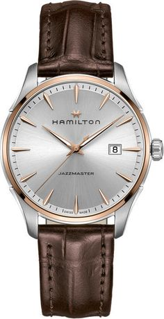 @hamiltonwfan Jazzmaster Gent #add-content #basel-16 #bezel-fixed #bracelet-strap-leather #brand-hamilton #case-depth-10-2mm #case-material-steel #case-width-40mm #date-yes #delivery-timescale-1-2-weeks #dial-colour-silver #gender-mens #luxury #movement-quartz-battery #new-product-yes #official-stockist-for-hamilton-watches #packaging-hamilton-watch-packaging #style-dress #subcat-jazzmaster #supplier-model-no-h32441551 #warranty-hamilton-official-2-year-guarantee #water-resistant-50m