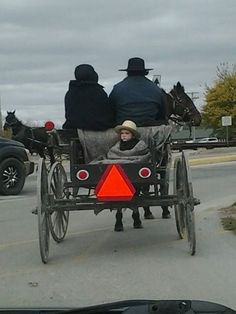 Snuggled in the #Amish buggy