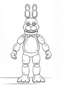 FNAF Toy Bonnie coloring page from Five Nights at Freddy's category. Select from 31927 printable crafts of cartoons, nature, animals, Bible and many more. Fnaf Coloring Pages, Halloween Coloring Pages, Coloring Pages For Boys, Free Printable Coloring Pages, Free Coloring, Toy Bonnie, Fnaf Golden Freddy, Fnaf Drawings, Printable Crafts
