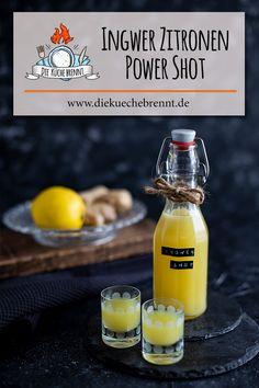 Ginger lemon shot recipe with juicer - power kick for the immune system - Ginger lemon shot recipe with juicer – power kick for the immune system Ginger lemon shot recipe - Shot Recipes, New Recipes, Chutney, Mayonnaise, Ketchup, Olives, Lemon Shots, Detox Juice Cleanse, Salsa