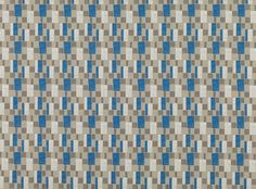 A quirky geometric weave with a subtle retro feel. Romo Fabrics, Upholstery Fabrics, Persian Blue, Jacquard Weave, Graphic Patterns, Fabric Design, Weaving, Textiles, Colours