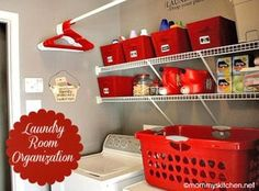 Organize your laundry room | Spring cleaning idea from Mommy's Kitchen, featured on Gooseberry Patch