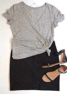 10 Ways To Wear A Black Skirt Casual Outfit casual skirt outfits