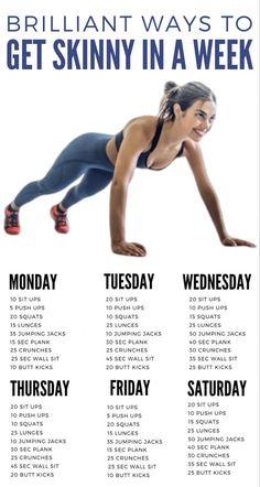 Brilliant way to get skinny in a week