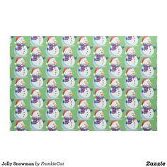 Jolly Snowman Fabric