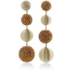 Rebecca de Ravenel Les Bonbons Disco Earrings ($495) ❤ liked on Polyvore featuring jewelry, earrings, gold, earring jewelry, gold earrings, disco earrings, yellow gold jewelry and gold jewelry