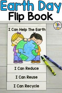 "Are you looking for a Earth Day Activity? This Earth Day Flip Book is a creative way to get Elementary kids to think about how they can help the Earth. Using ""I can"" statements, Preschoolers, Kindergartners, First Graders, and Second Graders will write and draw pictures of how they can reduce, reuse, and recycle. Your students can then read and share their Earth Day books with each other. Click on the picture to learn more about this FREE Earth Day teaching resource…"