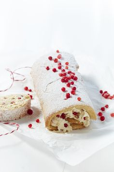 We share the beautiful recipe from McKinney's for Swiss Roll with Fig and Mascarpone Cream. What a dessert!!