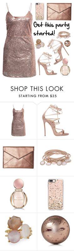 """""""Untitled #3033"""" by deeyanago on Polyvore featuring NLY Trend, Dsquared2, Rebecca Minkoff, Marjana von Berlepsch, Bulgari, Casetify, Ippolita, Charlotte Tilbury and partydress"""