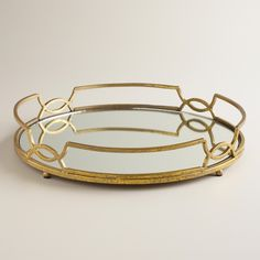 Gold Mirrored Tabletop Tray | World Market